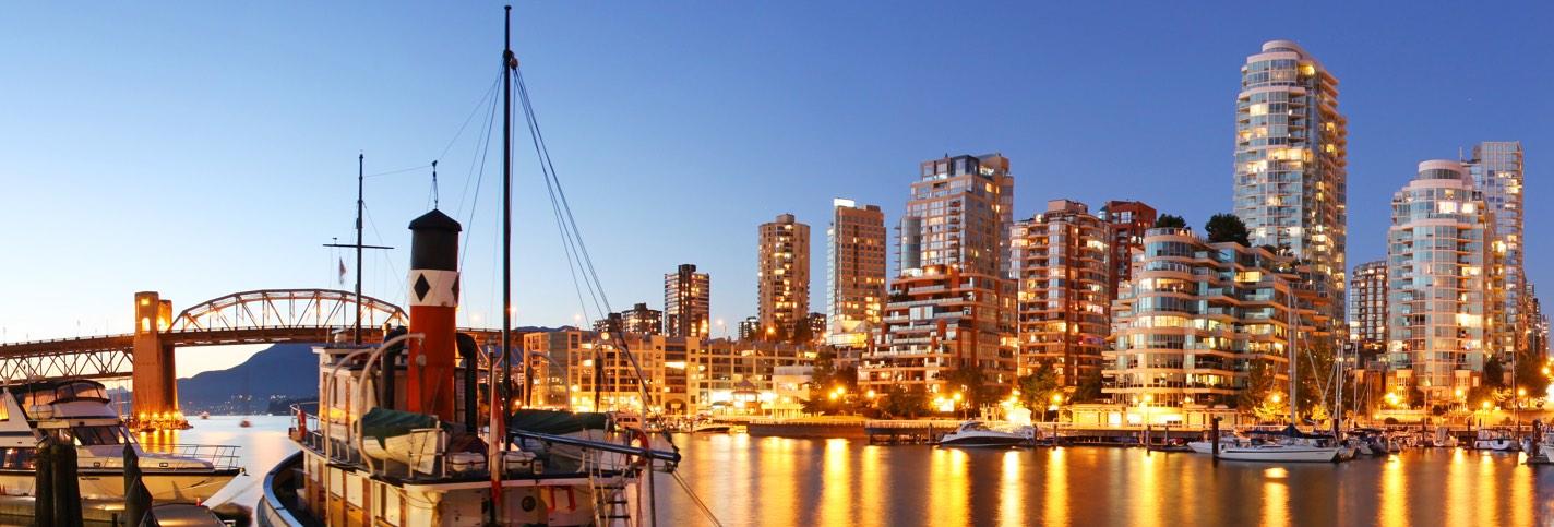 Vancouver Canada - Private jet charter and superjet charter broker mlkjets destinations